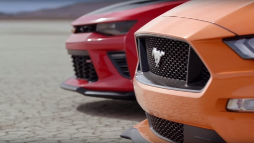 Автобаттл: Ford Mustang GT против Chevrolet Camaro SS 1LE